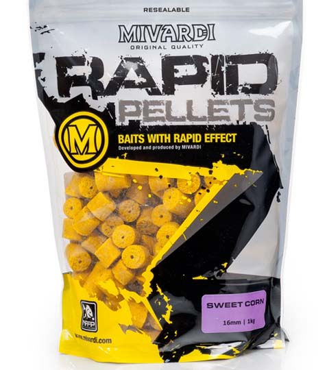 Mivardi Pelety Rapid SweetCorn 1 kg 16 mm